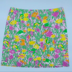 Lilly Pulitzer Skirt SZ 8 pink green yellow
